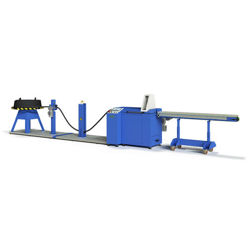 rubber cutting machine / for hoses / PLC-controlled / automatic