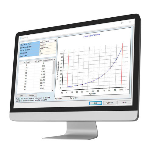 pressure drop calculation software / fluid dynamics simulation / thermal transfer simulation / sizing