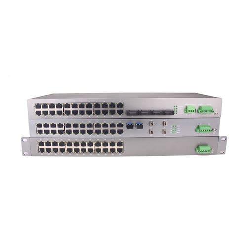 managed network switch / 24 ports / gigabit Ethernet / fiber optic