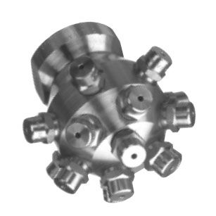 washing nozzle / for liquids / multidrop / stainless steel