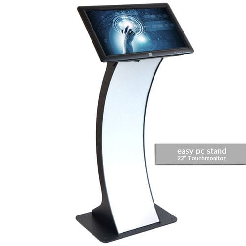 terminal with touch screen / floor-standing / full HD / display