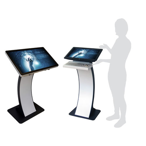 terminal with touch screen / kiosk / floor-standing / full HD