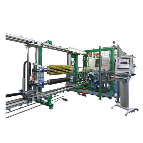 roller brushing machine