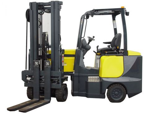 electric forklift / ride-on / narrow-aisle / storage