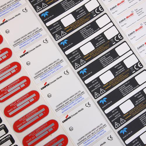 thermal transfer label / printed / printable / waterproof