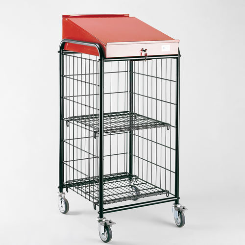 2 levels cart / metal wire / with drawer / multipurpose
