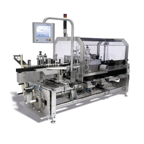 automatic labeler / side / linear array / for packaging