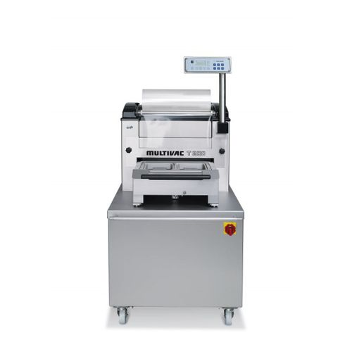 linear array tray sealer / semi-automatic / for trays / compact
