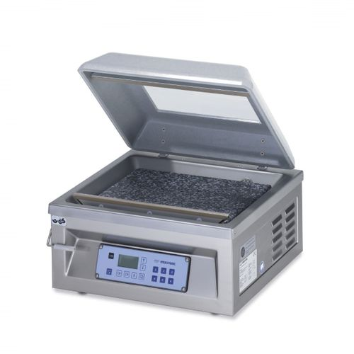 semi-automatic packing machine / vacuum / bell type / table-top