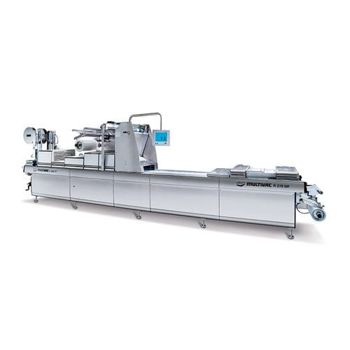 roll-fed thermoforming machine / for MAP packaging / automated / industrial