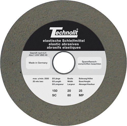 polishing wheel / deburring / cylindrical / silicon carbide