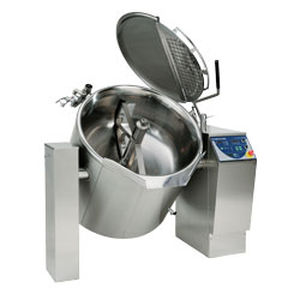 industrial cooker with mixer / for meat / electric / boiling