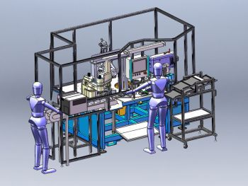 automatic assembly machine / manual / fitting / rotating table