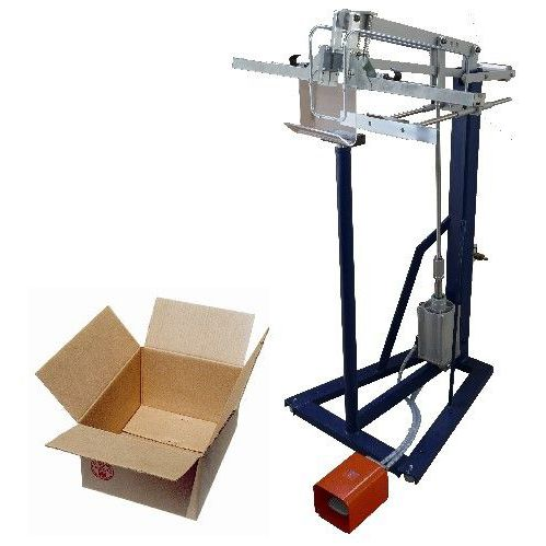 cardboard box bottom stapling machine