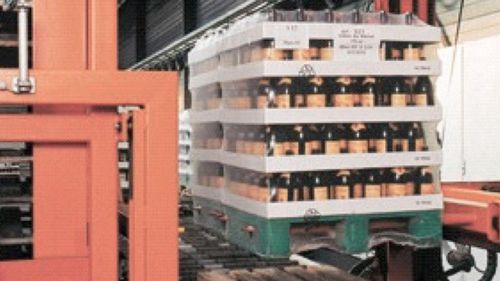 positioning stacker / automated / pallet
