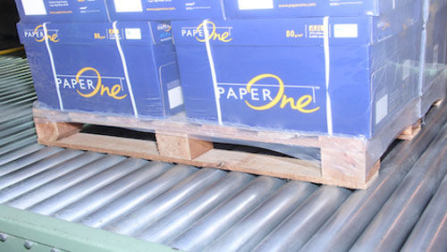 roller conveyor / pallet / carton / stationary