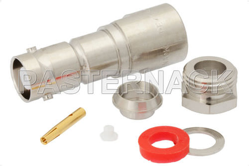 RF connector / radio-frequency / coaxial / straight