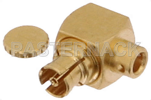 radio-frequency connector / SMP / straight / elbow