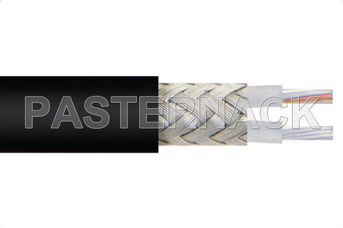 RF optical cable / insulated / copper / twinaxial