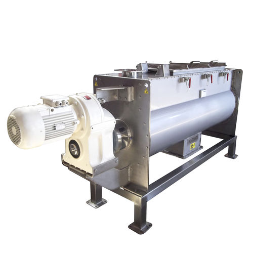 horizontal mixer / ribbon / solid/liquid / for the food industry