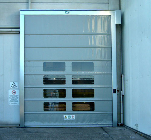 fold-up door / industrial / indoor / exterior