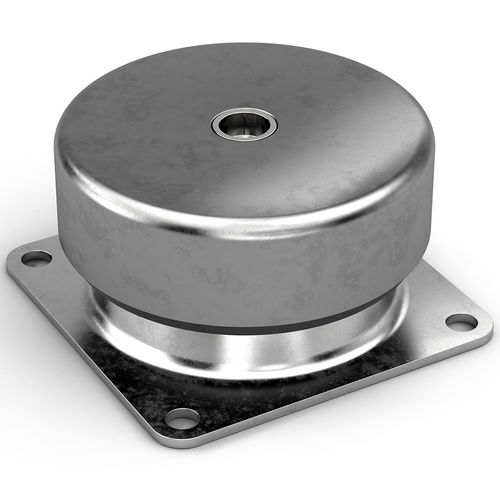 cylindrical anti-vibration mount / metal / silicone / rubber
