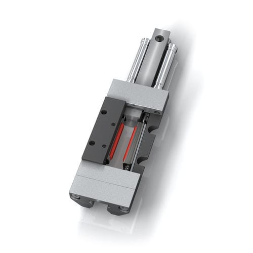 pneumatic clamping element / steel / rail / linear guide