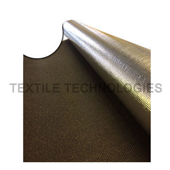 reinforced fabric / laminated glass / for thermal protection / high-temperature