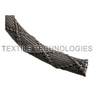 fiberglass sleeve / thermal protection / braided / for cables