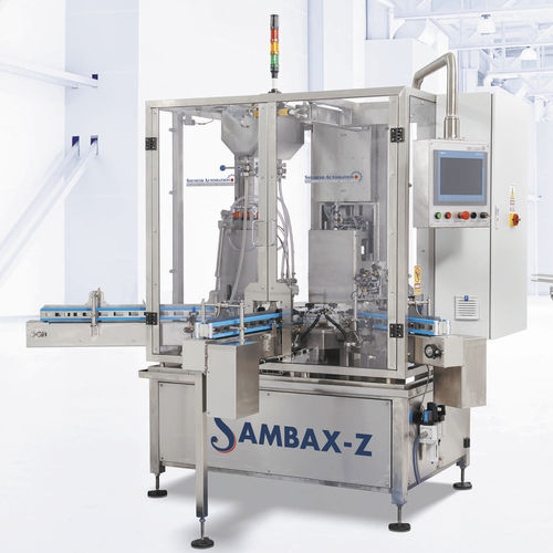 automatic packaging machine / vertical / liquid / for the medical industry