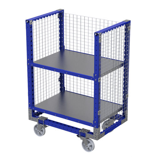 handling cart / metal wire / 2 levels / container