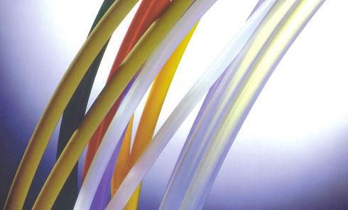 foodstuffs hose / PTFE / chemical-resistant / heat-resistant