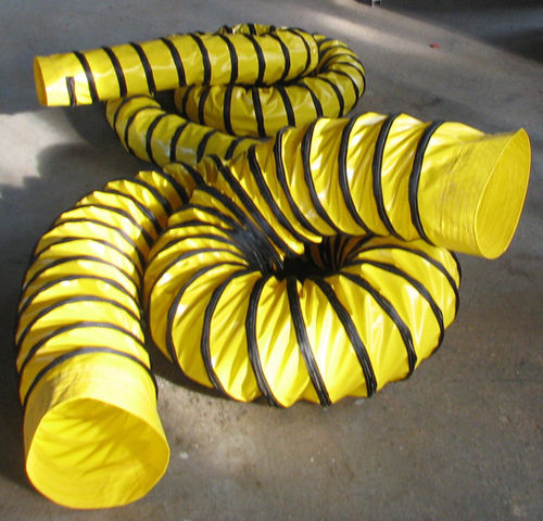 hot air hose / fabric / polyester / smooth