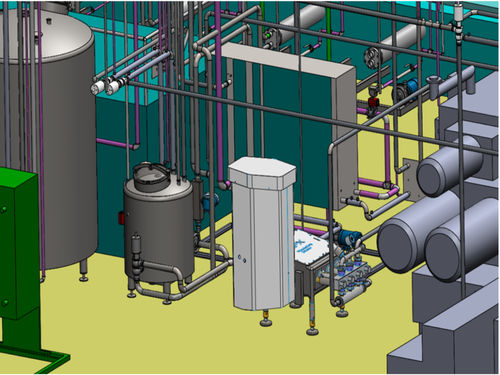 dairy product production line / continuous