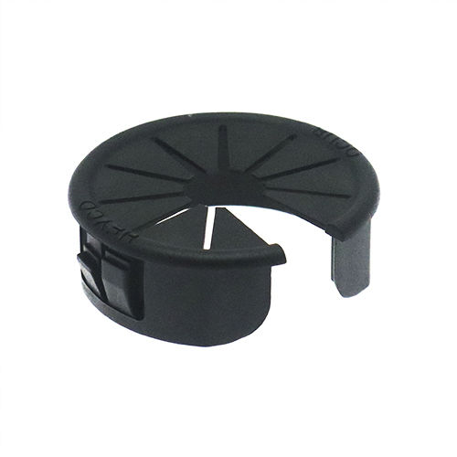 snap-in bushing / nylon / for cables / round