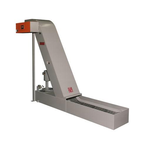 magnetic belt conveyor / chip / parts / horizontal