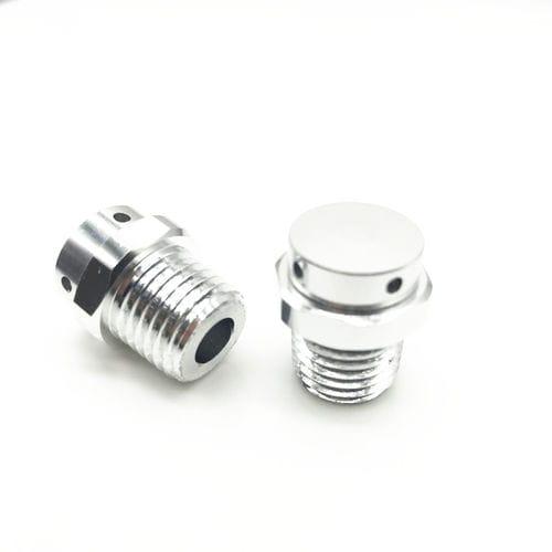 pressurisation plug / cylindrical / threaded / metal