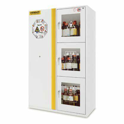 storage shelf / for hazardous materials