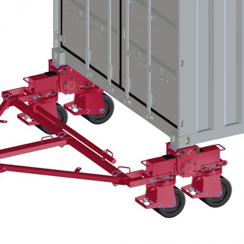moving skate with 4-point support / for containers