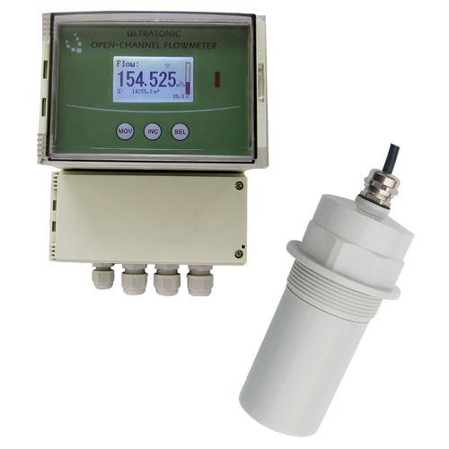 ultrasonic flow meter / for liquids / 4-20 mA / open-channel