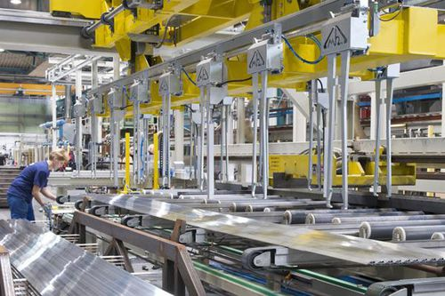 automated stacker / for aluminum plates / for iron bars / for aluminum profiles