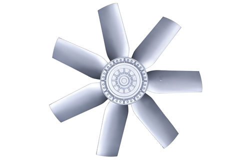 axial fan / ventilation / with external rotor / AC