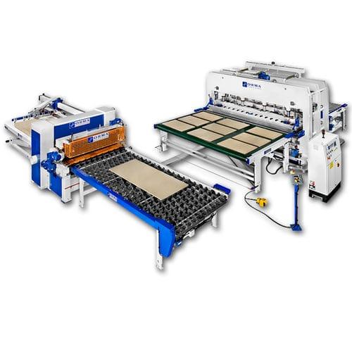 wooden panel press line