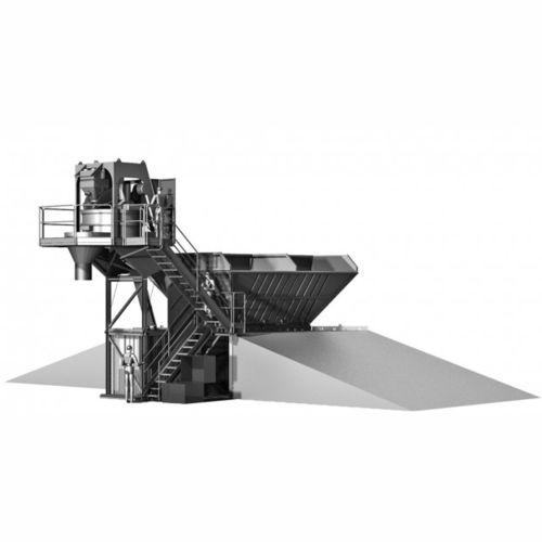 semi-mobile concrete mixing plant