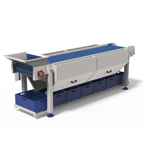 roller conveyor / food / inspection