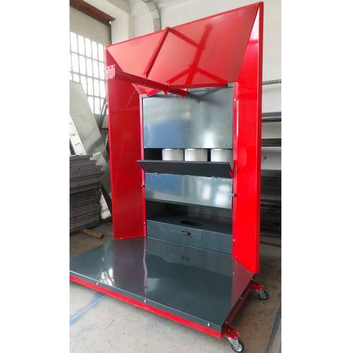 open powder coating booth / cartridge filter / manual