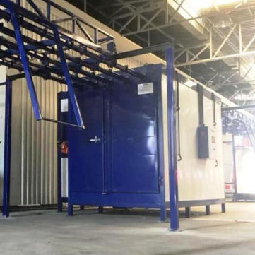 curing oven / powder coating / chamber / electric resistance