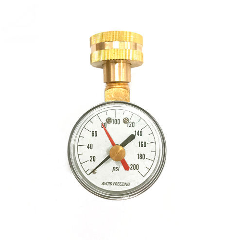 dial pressure gauge / Bourdon tube / for water / high-accuracy