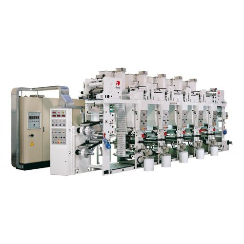 rotogravure printing machine / multi-color / for labels / for metal
