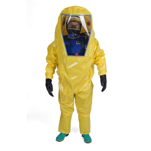 work coveralls / chemical protection / high-visibility / zippered